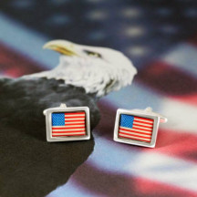 Show National Pride with the American Flag Novelty Cufflinks