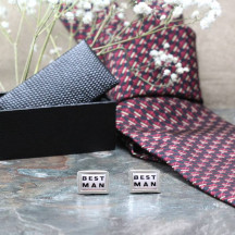 The Best Man Novelty Cufflinks Are A Nice Touch To The Wedding