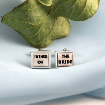 Father of the Bride Novelty Cufflinks Perfect Gift For Father of Bride