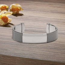 Personalized Mesh-like Stainless Steel Cuff Bracelet