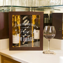 Personalized Papered Grape Deluxe Double Bottle Wine Box Set
