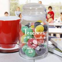 Personalized Teacher Treat Jar