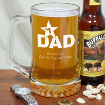 #1 Dad Personalized Sports Glass Mug