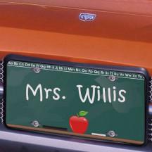 Chalkboard Teacher License Plate