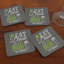 Personalized Irish Welcome Coaster Set
