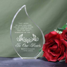 Engraved In Our Hearts Memorial Tear Keepsake