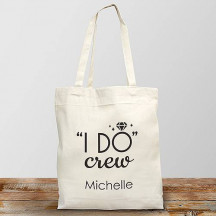 Personalized I Do Crew Canvas Tote