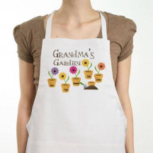 Personalized Grandma's Garden Kitchen Apron