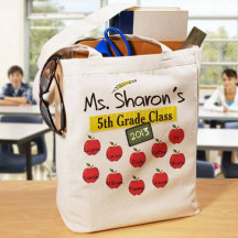 Teachers Class Personalized Canvas Tote Bag