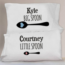 Couples Personalized Pillowcase Set
