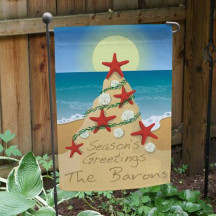 Beach Christmas Flag