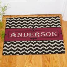 Personalized Chevron Welcome Doormat