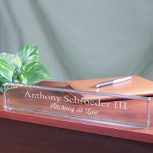 Engraved Desk Name Plate
