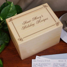 Personalized Holiday Recipe Box