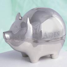 Name Silver Piggy Bank