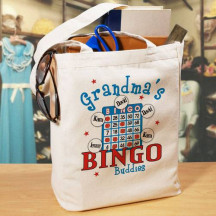 Bingo Personalized Canvas Tote Bag
