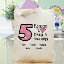 Personalized Reasons I Love being a grandma Tote Bag