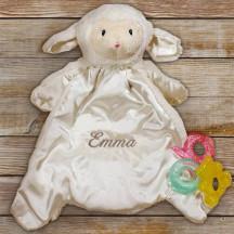 Personalized Baby HuggyBuddy Lamb Blanket