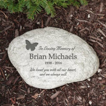 In Loving Memory Butterfly Garden Stone