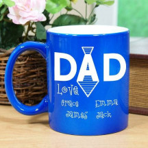 Engraved Dad's Tie Two-Tone Mug