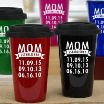 Personalized Mom Established Travel Mug
