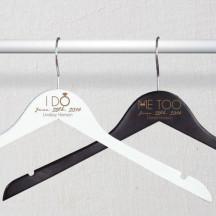 Engraved Bride and Groom Hangers