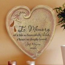 Heart Memorial Wall Stone