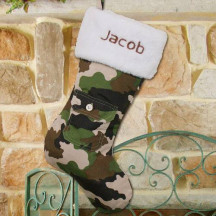 Army Camouflage Christmas Stocking