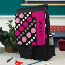Personalized Dots Backpack