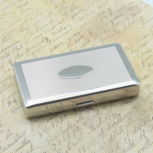 Personalized Silver Cigarette Case for 20 Cigs