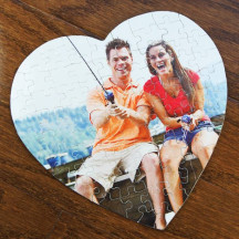 Personalized Heart Shaped Jig-Saw Puzzle with Custom Image Printed