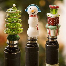 Decorative Holiday Assortment Glass Stoppers A Beautiful Gift