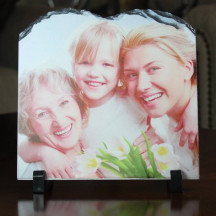Personalized Tablet Shape Picture Frame with Custom Image Printed
