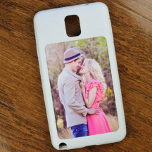 Black Custom Galaxy Note 3 Mobile Case with Personalized Image Text
