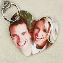 Heart Shaped Personalized Key Tag with Custom Image Photo Picture