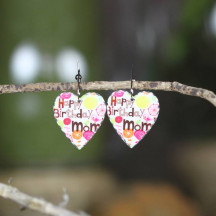 Large Heart Personalized Earring Set with Custom Photo Image