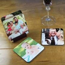 Custom Hardboard Personalized Coaster Set with Image