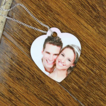 Personalized Custom Heart Shaped Pet ID Tag with Photo
