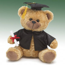 Graduate Bear With Cap Gown & Diploma Plush Friends & Family Gifts