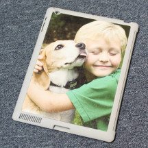 Personalized iPad 2/3/4 Case Cover Gray Custom Image Photo Printed