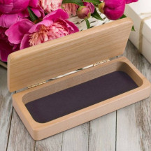 Beautiful & Elegant Personalized Maple Wood Jewelry Box  Velour Lining