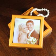 Wooden Cherry Box Personalized Custom Photo Gift